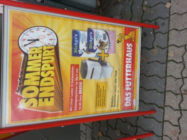 [lokal Bremen Vahr Futterhaus, evtl überall?] Litterlocker Katzen-aa Behälter gratis zur Streu