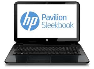 HP Pavilion 15-b152sg Sleekbook: AMD Quad-Core A8/6 GB DDR3/750 GB/Windows 8 64/2x USB 3.0 -  wegen WE HP 10% Aktion für 350€