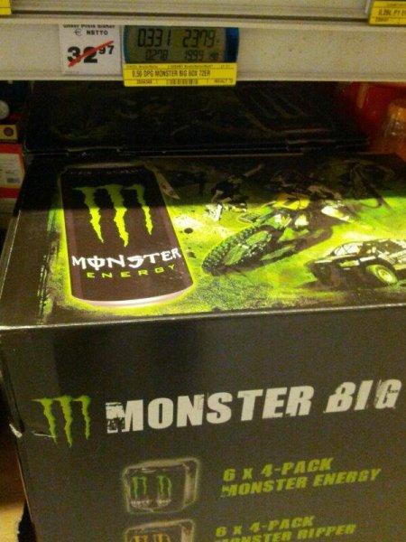 [lokal München] Monster Energy Big Pack, 0,33 Euro je Dose