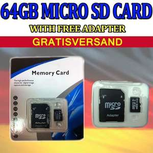 64GB MICRO SD (+Adapter)  --> 19,98 €