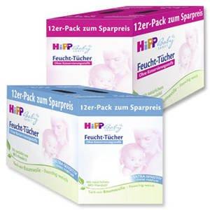 HIpp Feuchttücher 12er Pack bei real