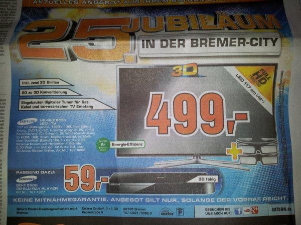 [Bremen Saturn] Samsung UE 46 F 6170 für 499,-