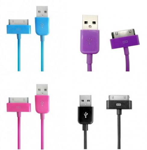 Farbige iPod/iPhone Daten- / Sync-Kabel für 9 Euro inkl. Versand
