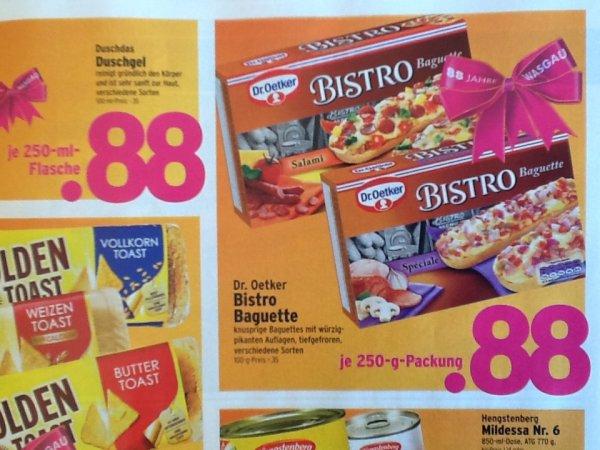 Wasgau - Dr. Oetker Bistro Baguette 250g nur 0,88€