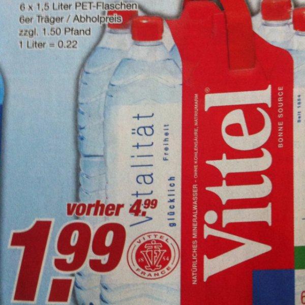 6x1,5Liter Vittel für nur 1,99€ @ Edeka und Marktkauf