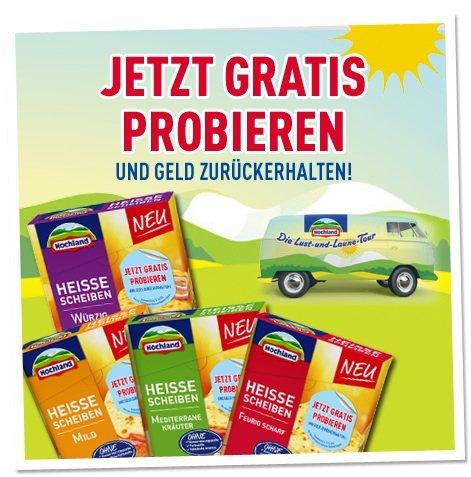 Gratis testen - Hochland Heisse Scheiben (4 Packungen)