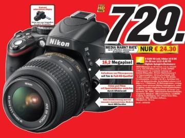 Nikon D5100 Kit inklusive 18–55 mm VR 1:3,5–5,6