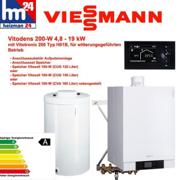 Viessmann Vitodens 200-W Paket inclusive Gratis Abgasführung