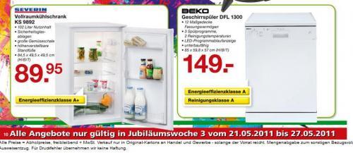 Geschirrspüler Beko für 177,31 € bei Handelshof in Köln Poll