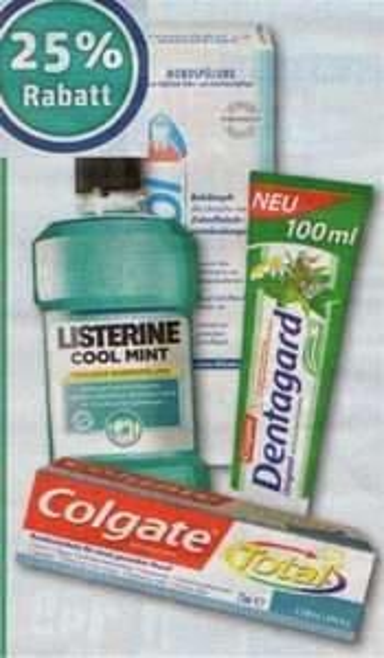 REWE: Mundpflege 25% Rabatt (Meridol, Listerine, Colgate, Dentagard)