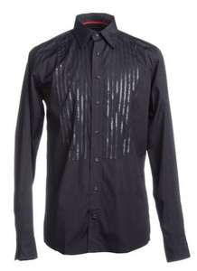 Tommy Hilfiger Hemd  Slim Fit Sequin in schwarz