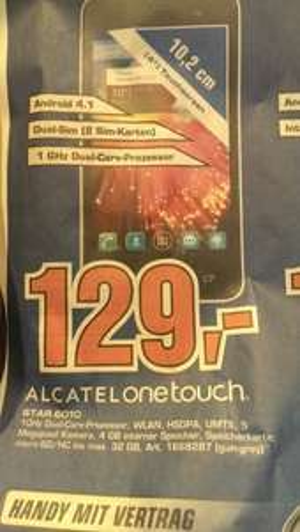 Lokal Köln Saturn Hansaring: Alcatel One Touch Star 129,-€
