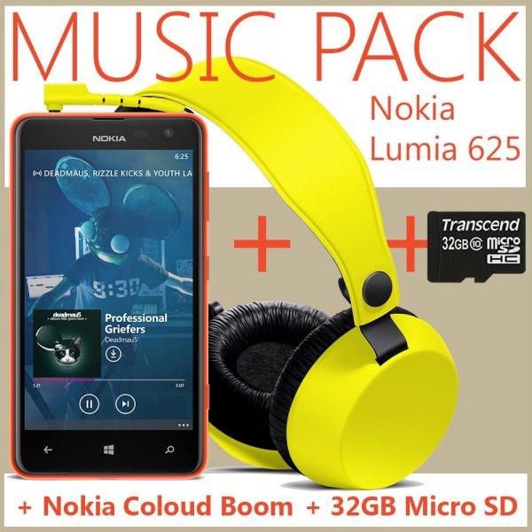 Nokia Lumia 625 inkl. Kopfhörer und inkl. 32 GB micro SD