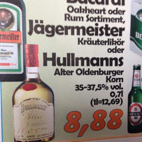[lokal Oldenburg] Hullmanns Alter Oldenburger Korn für 8,88,-€