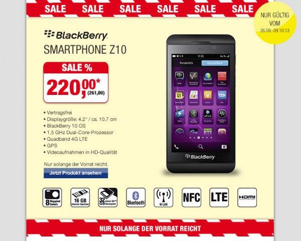[Metro] Blackberry Z10 261,80€ 26.09-09.10