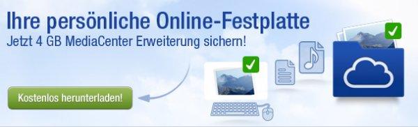 4GB kostenloser Speicher zusätzlich für GMX Mediacenter