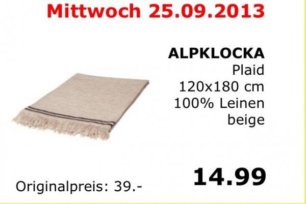ikea Kamen Teppich/ Tagesdecke/ Tischdecke o. Ä. Alpklocka über 60% günstiger ! Nur heute!