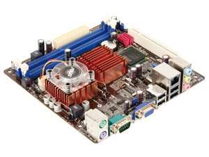 Mini-ITX Mainboard ASUS ITX-220/Intel Celeron 220 (35 bzw. 30€ incl.)