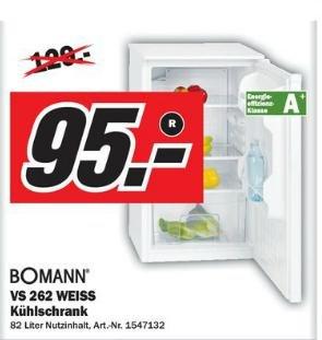 Kühlschrank reduziert auf 95€!!!