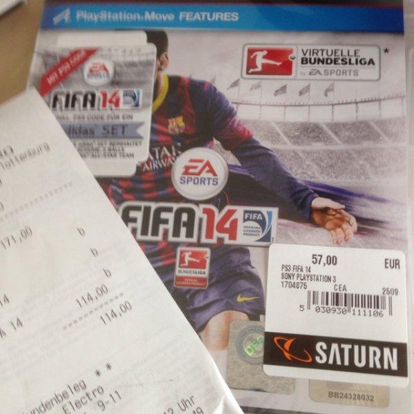 FIFA 14 [Saturn Berlin] für effektiv 38€