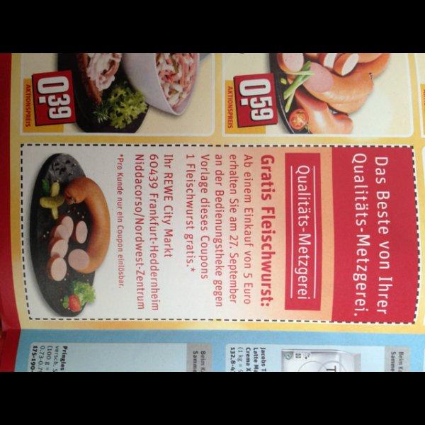 Rewe frankfurt nwz fleischwurst ab 5 euro einkauf