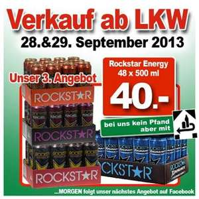 [LOKAL] Ter Hurne LKW Verkauf (Rockstar für 0,58 EUR, Veltins 0,54 EUR)