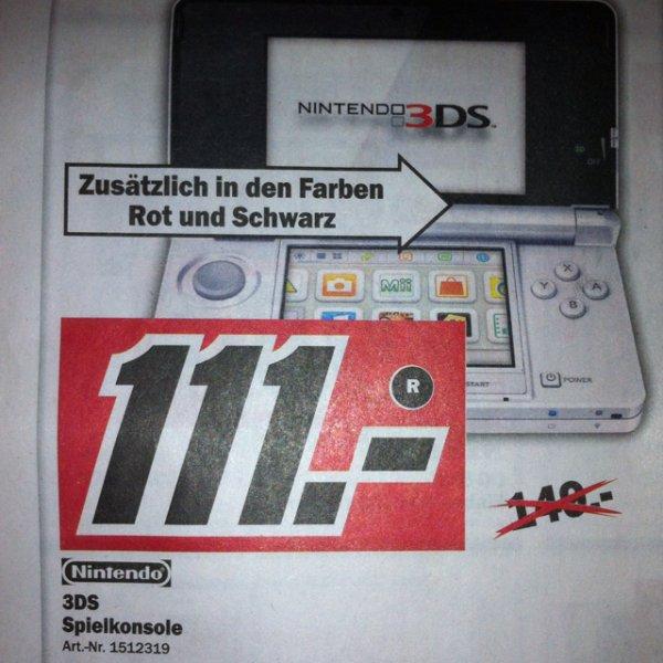 [Lokal MM Singen] Nintendo 3DS in weiss, rot und schwarz