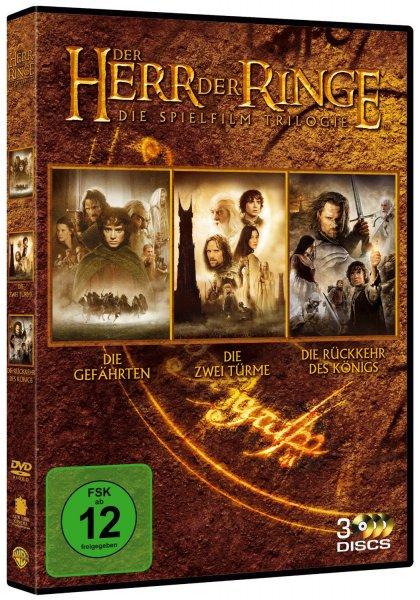 """[3 DVDs] Der Herr der Ringe - Die Spielfilm Trilogie + Buch """"Oedipus Rex"""" für 6,95 EUR inkl. Versand @ Amazon.de"""