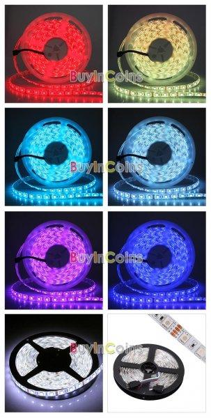 5m LED-Strip (300 RGB 5050) mit Controller u. 44-Tasten Fernbedienung, ohne Netzteil für 9,83 € oder mit Netzteil für 15,16 €