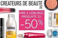 Créateurs de Beauté.de  -  6 Kosmetik Produkte auswählen und 50% Rabatt erhalten
