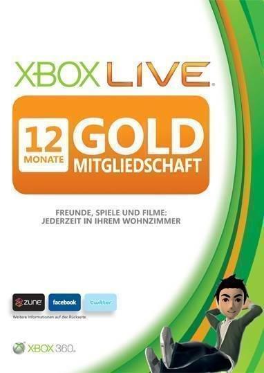 xBox 360 Live 12 Monate für nur 31,95 EUR