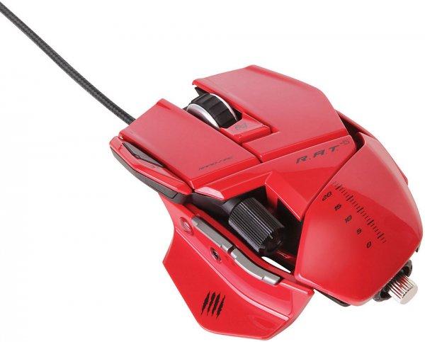 MediaMarkt Schlussverkauf Online: MAD CATZ R.A.T. 5 Gaming Maus Rot für 44,00€ (Vergleichspreis 60€)