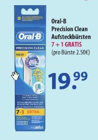 Oral-B Precision Clean Aufsteckbürsten (7+1) bei Schlecker (on- und offline)