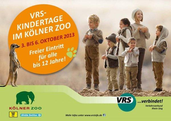 [Zoo Köln] vom 03.-06.10. freier Eintritt für alle bis 12j