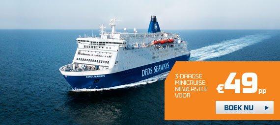 Minikreuzfahrt Amsterdam - Newcastle für 2 Personen für 98,- € (49,- € pro Person / Oktober - November)