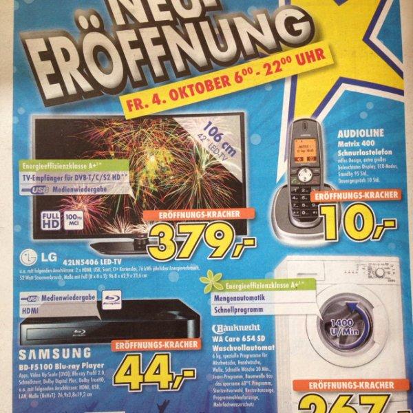 """[lokal] LG 42"""" 379€ Euronics Neueröffnung in Echterdingen"""