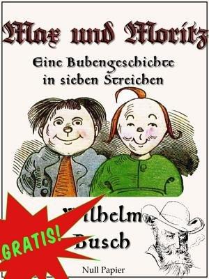 [Android - Google Play Books] Max und Moritz / Eine Bubengeschichte in sieben Streichen - Kostenlos