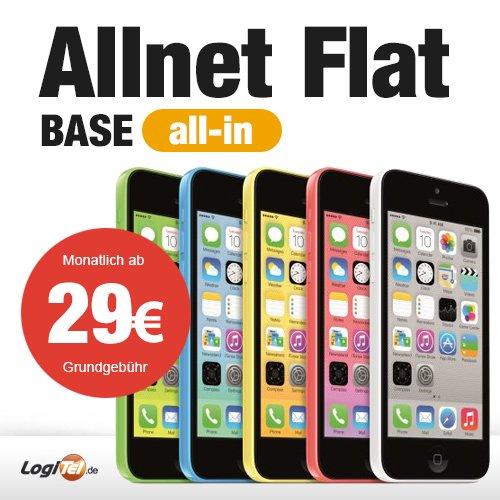 Apple iPhone 5C 16GB Handy im Base All-in Tarif für 765 EUR