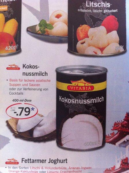 LIDL Kokosnussmilch 400 ml Dose 0,79€ ab 02.10.