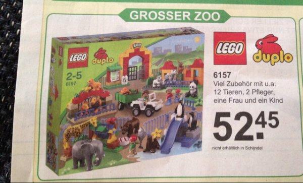 30.09-20.10 [offline] NL van Cranenbroek LEGO DUPLO Großer Zoo 6157 - nahe Aachen