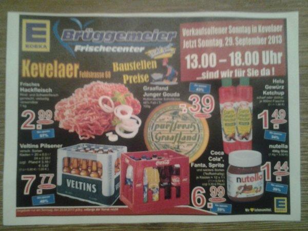 Edeka (Lokal Kevelaer)  Angebote zum verkaufsoffenen Sonntag 28.09.13