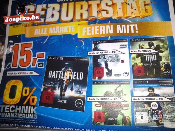 [Saturn] Diverse EA Titel für alle Systeme wie Battlefield 3, Fifa 13, Crysis 3, Army of Two und Dead Space 3 (ggf. nur Lokal in Berlin)