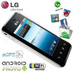 LG E720 Optimus Chic Android Smartphone mit kapazitivem Multitouch-Screen, WLAN, 3G, DLNA und A-GPS