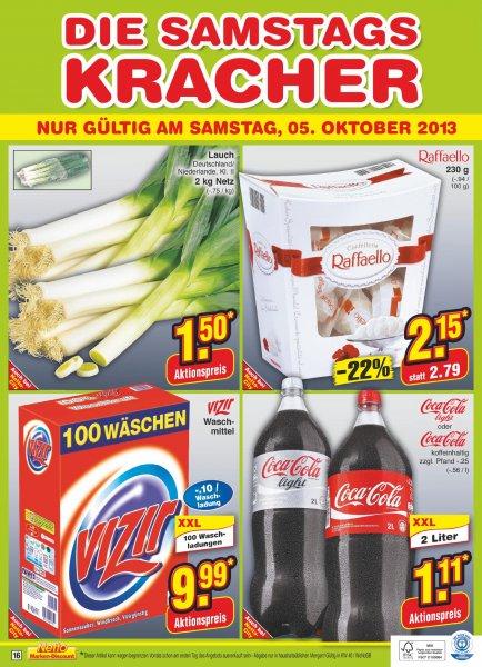 XXL 2 Liter Coca Cola oder Coca Cola Light für 1.11€