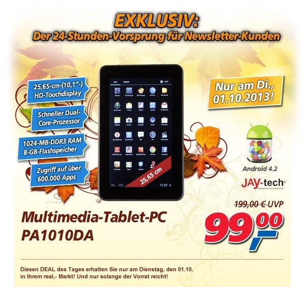 (Bundesweit?) Jay-Tech 10Zoll tablet für 99Euro bei Real