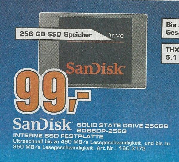 Nur Saturn Bremen - SanDisk SSD 256GB