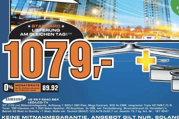 [lokal Dortmund] UE55 F 6640 SSX Saturn