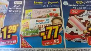 Kinder Schokolade / Yogurette 10+2 @ Netto Marken-Discount