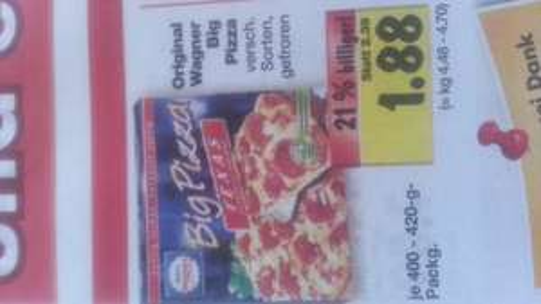 Big American Wagner Pizza @kaufland 1,88€