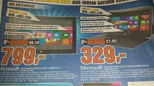 MS Surface Tablets | RT inkl. TC 329€ & Pro 128GB 799€ nur am 29 & 30.09 Saturn Euskirchen [LOKAL]